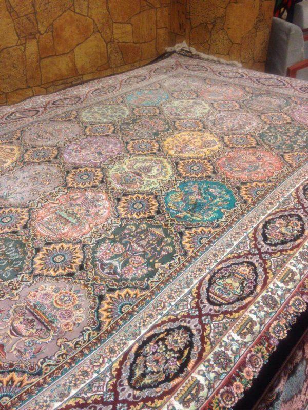 فرش 1000 شانه دیبا طرح پاشا