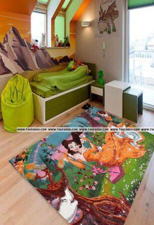 فرش فانتزی اتاق کودک کد 29
