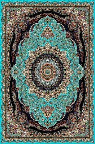 فرش رنگ فیروزه ای
