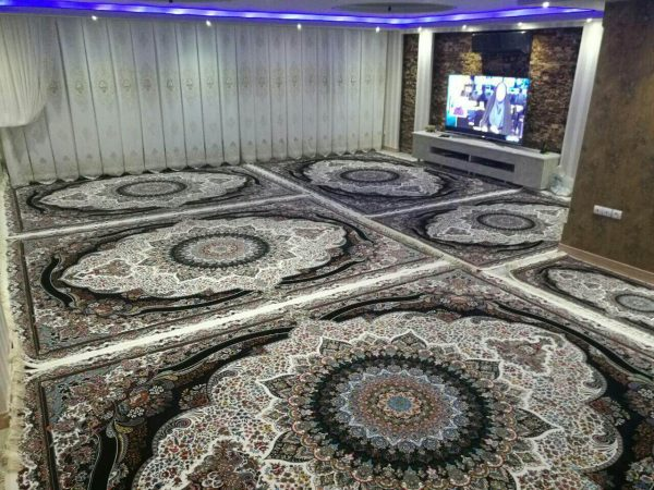 فرش 700 شانه طرح پرهام کرم