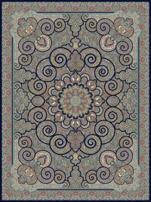 فرش 700 شانه طرح میترا سرمه ای