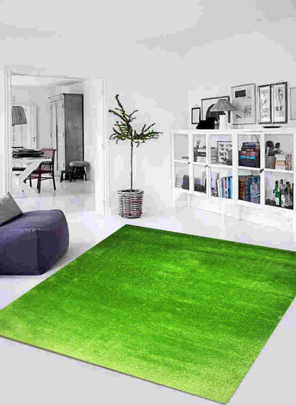 فرش شگی کد 5013 سبز