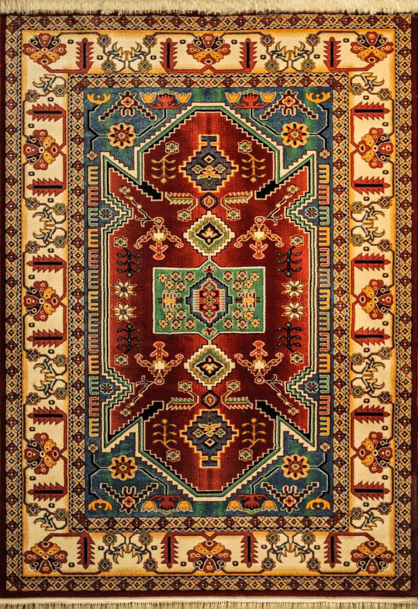 فرش ماشینی طرح عشایری کد 001 لاکی