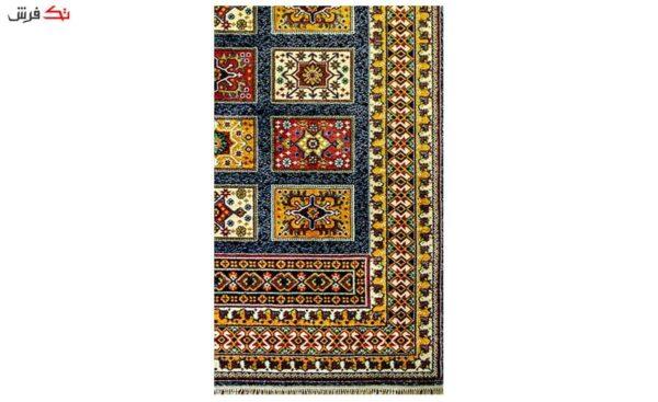 فرش ماشینی طرح عشایری صوفیا سرمه ای