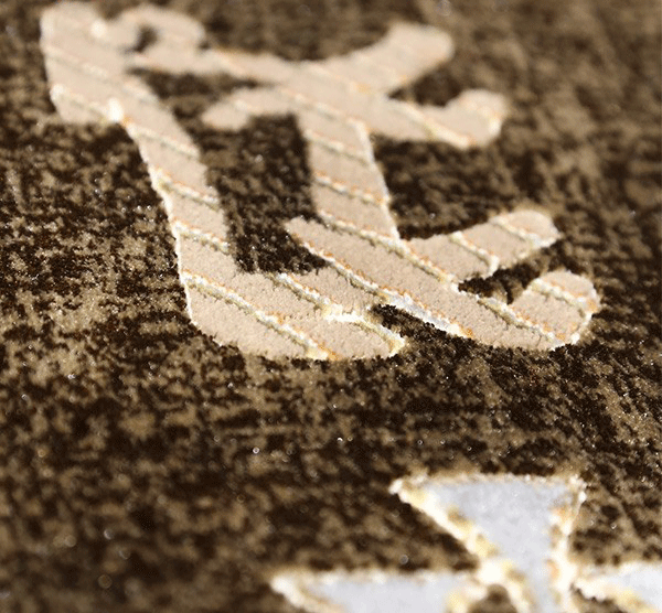 فرش 700 شانه دیبا طرح اوستا قهوه ای