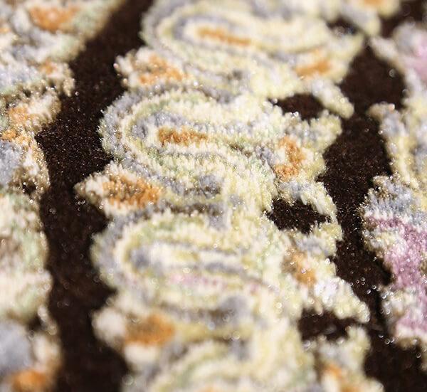 فرش 700 شانه دیبا طرح جهان مشکی