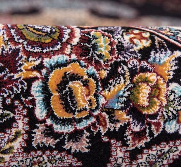 فرش 700 شانه طرح جاویدان زمینه سرمه ای