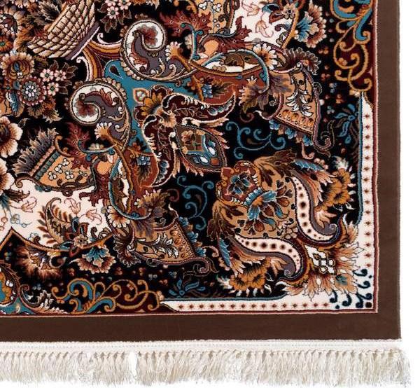 فرش 700 شانه طرح ملوری زمینه قهوه ای