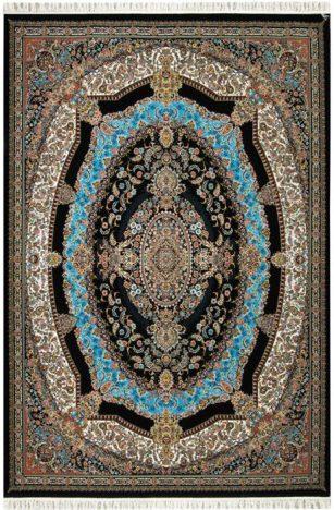 فرش 700 شانه طرح شهرزاد زمینه فیروزه ای