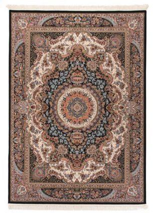 فرش 700 شانه طرح برکت زمینه سرمه ای