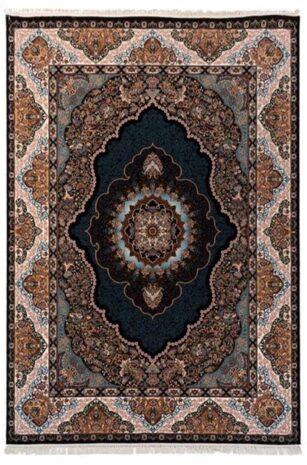 فرش 700 شانه طرح عرفان زمینه سرمه ای