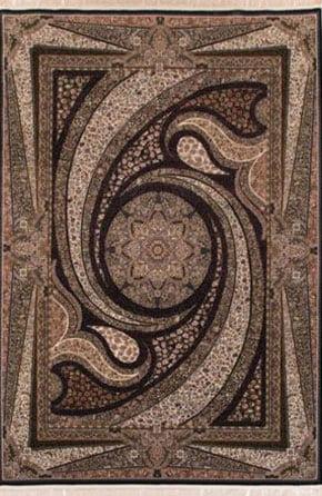 فرش ماشینی طرح کهکشان سرمه ای 700 شانه تراکم 2550