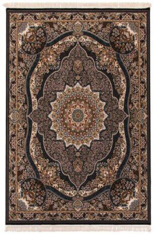 فرش 700 شانه طرح رضوان زمینه قهوه ای