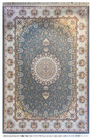 فرش 1200 شانه پنجاه رنگ مشهد اردهال کد 117 گل برجسته (هایبالک) اطلسی