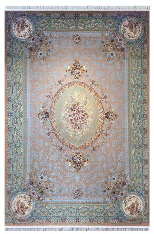 فرش 1200 شانه پنجاه رنگ مشهد اردهال کد 100 گل برجسته (هایبالک) نسکافه ای