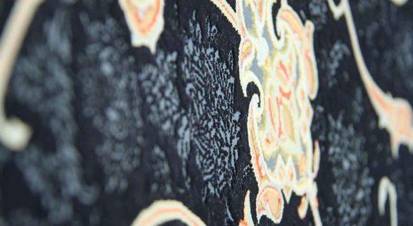 فرش 1200 شانه پنجاه رنگ مشهد اردهال کد 103 گل برجسته (هایبالک) پرکلاغی