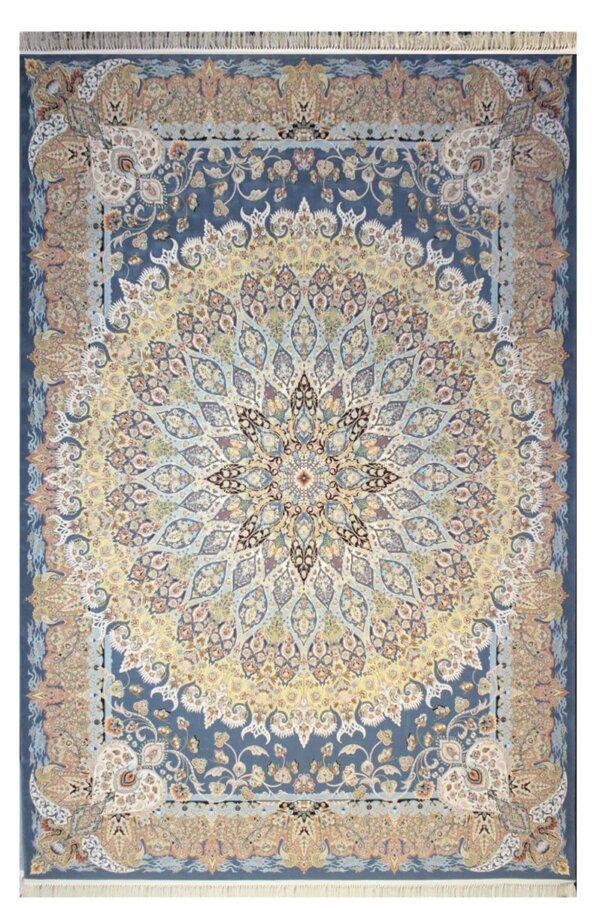 فرش 1200 شانه پنجاه رنگ مشهد اردهال کد 108 گل برجسته (هایبالک) اطلسی