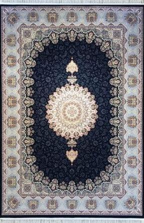 فرش مشهد اردهال کد 117 پرکلاغی 1200 شانه تراکم 3600 گل برجسته