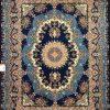 فرش 1200 شانه طرح مارینا زمینه سرمه ای