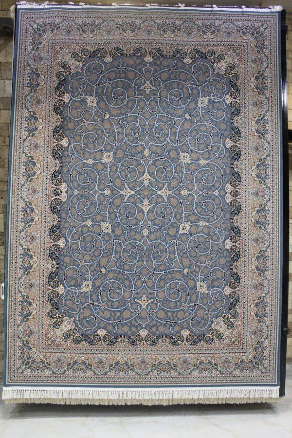 فرش 1200 شانه پنجاه رنگ مشهد اردهال کد 103 گل برجسته (هایبالک) اطلسی