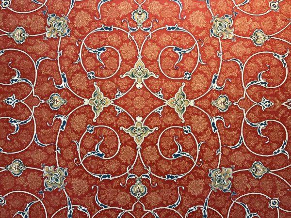 فرش 1200 شانه پنجاه رنگ مشهد اردهال کد 103 گل برجسته (هایبالک) مسی