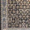 فرش مشهد اردهال کد 83 مشکی 1200 شانه تراکم 3600