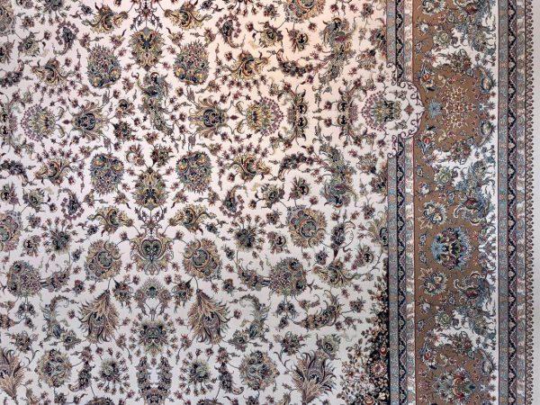فرش 1200 شانه پنجاه رنگ مشهد اردهال کد 57 کرم