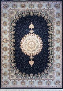 فرش 1200 شانه پنجاه رنگ مشهد اردهال کد 117 گل برجسته (هایبالک) پرکلاغی