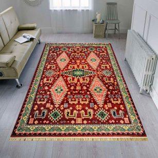 فرش عشایری طرح سروش دارچینی