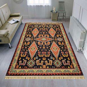 فرش عشایری طرح سروش سرمه ای