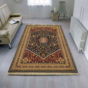 فرش عشایری طرح پردیس سرمه ای