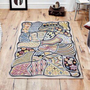 فرش فانتزی شنل ( گل برجسته ) کد 2007