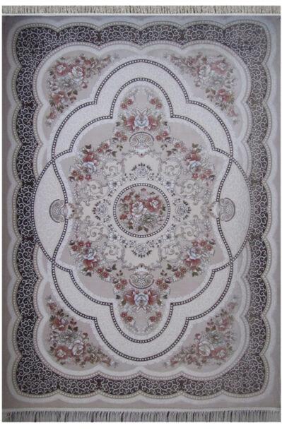 فرش ماشینی اکریلیک طرح ترکیه (برجسته) کد 1096 کرم
