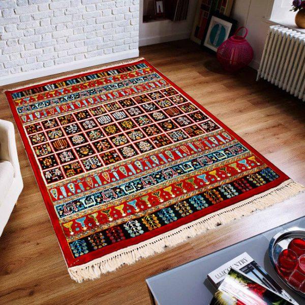 فرش فانتزی گبه طرح نگار لاکی