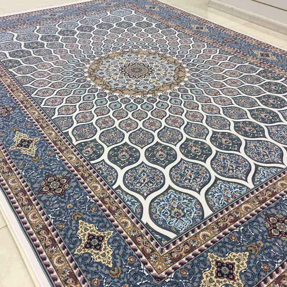 فرش شاهکار صفویه طرح گنبد کرم 1200 شانه تراکم 3600 برجسته
