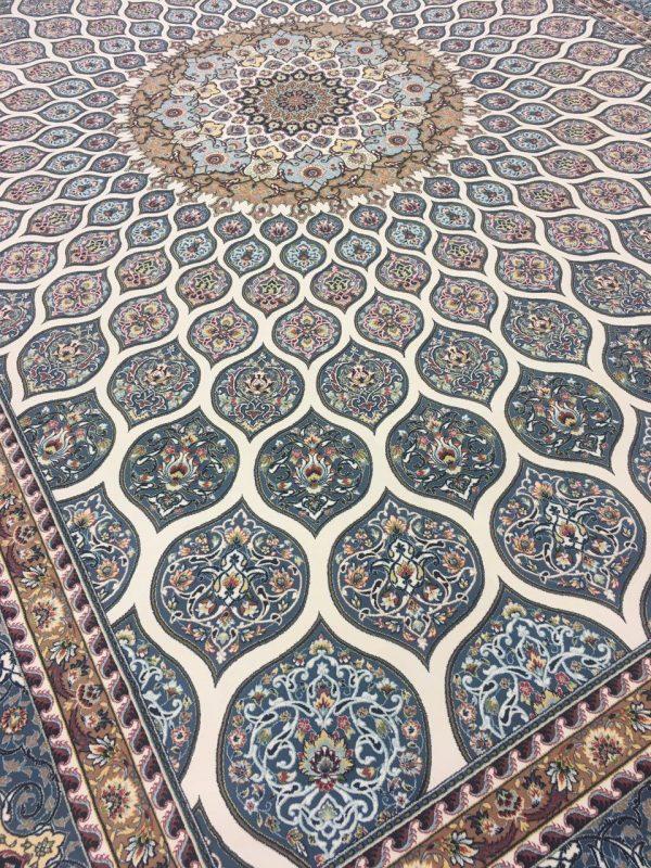 فرش 1200 شانه شبستان گل برجسته (هایبالک) کرم