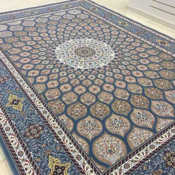 فرش 1200 شانه شبستان گل برجسته (هایبالک) اطلسی