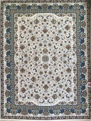 فرش 1200 شانه افشان گل برجسته (هایبالک) کرم