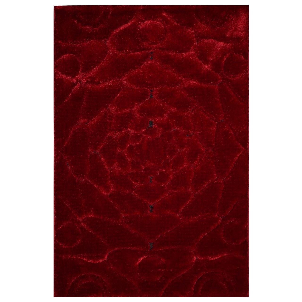 فرش فانتزی شگی 11086 قرمز