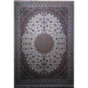 فرش 1200 شانه نازنین گل برجسته (هایبالک) کرم