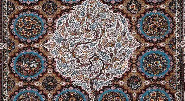 فرش محتشم 1200 شانه طرح اشرافی