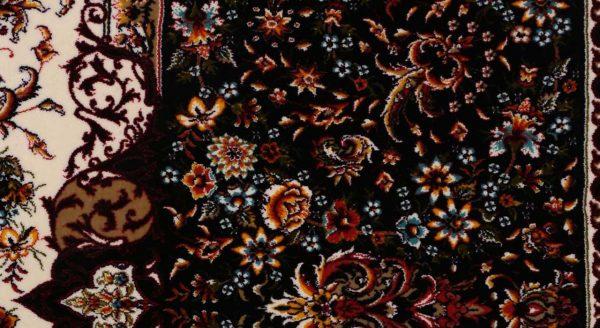 فرش محتشم 1200 شانه طرح گل فرنگ کرم