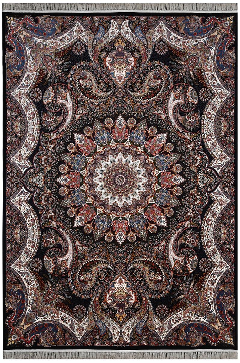 فرش محتشم 1200 شانه طرح آیسا سرمه ای