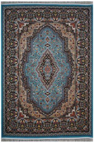 فرش محتشم 1200 شانه طرح مسیحا آبی