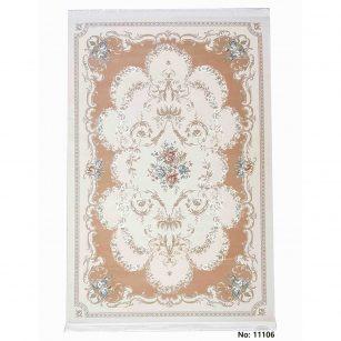 فرش مرینوس ترکیه (برجسته) کد 11106 زمینه گلبهی
