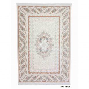 فرش مرینوس ترکیه (برجسته) کد 12105 زمینه گلبهی