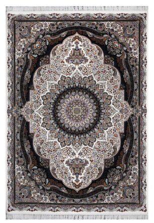 فرش ماشینی 1000 شانه محتشم طرح پرهام زمینه کرم