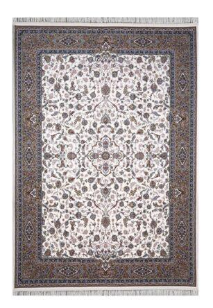 فرش ماشینی 1000 شانه محتشم طرح افشان زمینه کرم