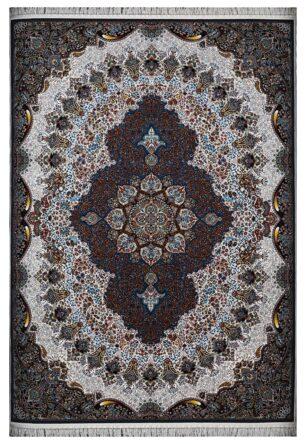 فرش ماشینی 1000 شانه محتشم طرح شکوه زمینه کرم