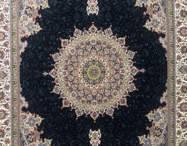 فرش ماشینی نارمک 1000 شانه کد 5006 سرمه ای